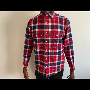 Men's small red flannel